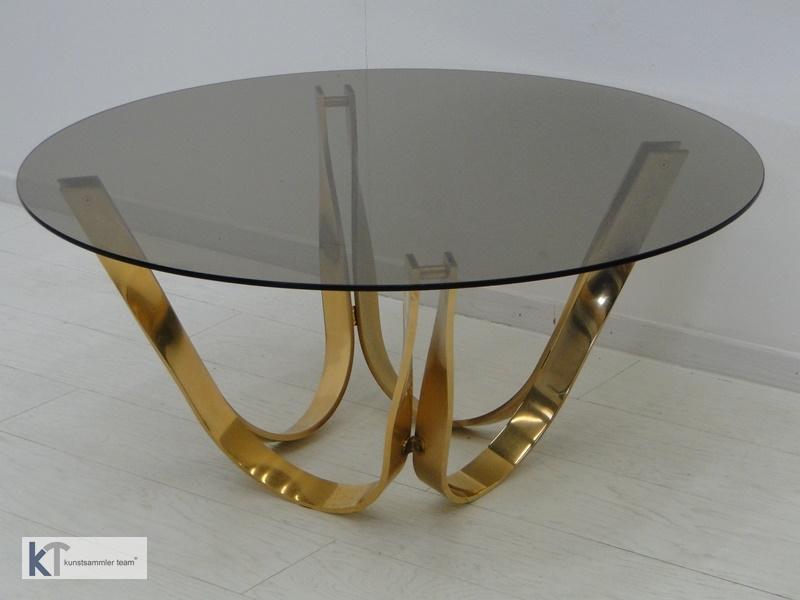 5385D-Designer Couchtisch-Glastisch-Roger Sprunger-60er Jahre Couchtisch-Dunbar- 0