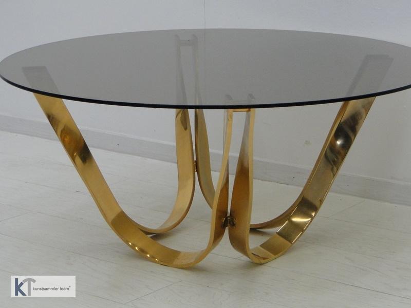 5385D-Designer Couchtisch-Glastisch-Roger Sprunger-60er Jahre Couchtisch-Dunbar- 1