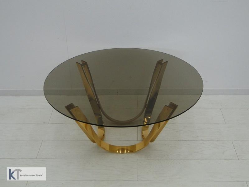 5385D-Designer Couchtisch-Glastisch-Roger Sprunger-60er Jahre Couchtisch-Dunbar- 2