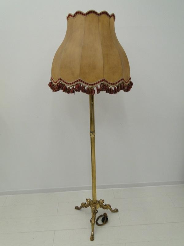 5217D-Messingleuchte-Stehlampe-Leuchte-Messing-Leselampe-Stehleuchte-Lampe-Lesel 0