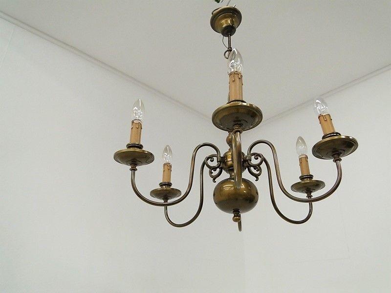5048D-Luster-Deckenleuchte-Kronleuchter-Lüster-Messingluster-Messinglampe-Lampe
