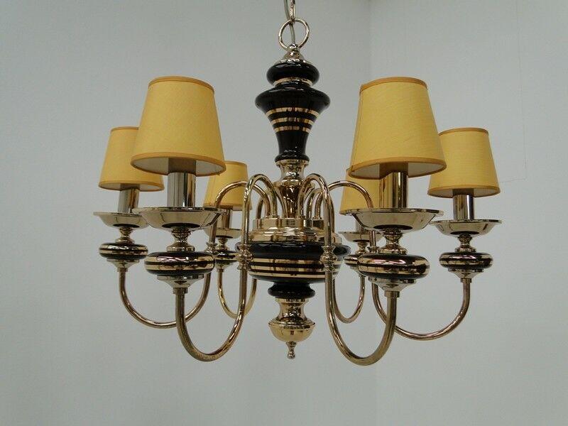 5054D-Luster-Deckenleuchte-Kronleuchter-Lüster-Messingluster-Messing-Keramik
