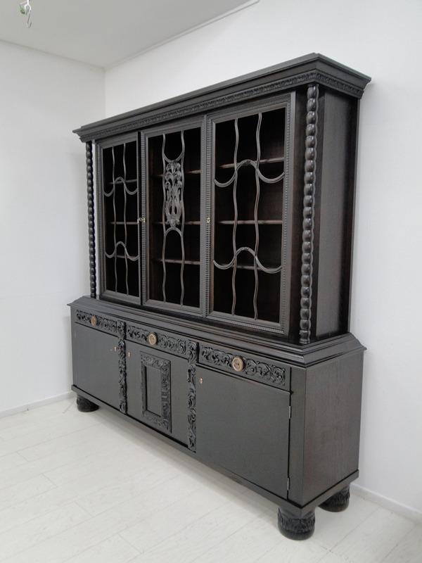 2149-Art Deco Bücherschrank-Vitrine-Art Deco-Bücherschrank-Vitrinenschrank-Schra 0