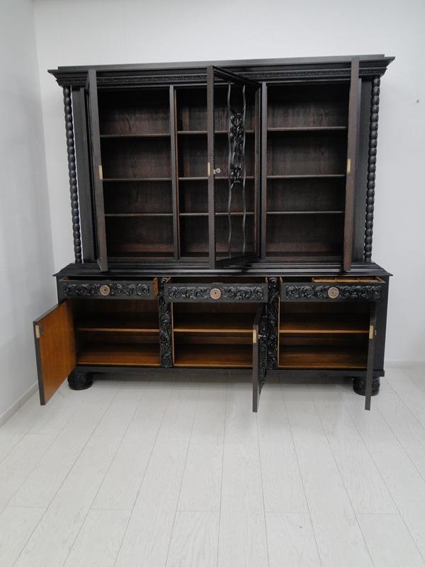 2149-Art Deco Bücherschrank-Vitrine-Art Deco-Bücherschrank-Vitrinenschrank-Schra 3