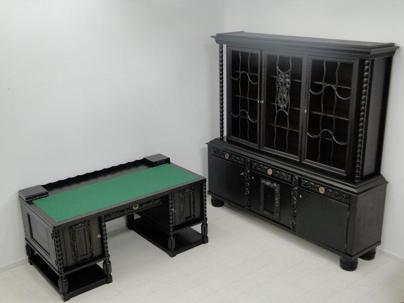 2149-Art Deco Bücherschrank-Vitrine-Art Deco-Bücherschrank-Vitrinenschrank-Schra 5