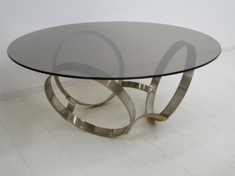 5201-Glastisch-Tisch-Designer Tisch-Beistelltisch-Bauhaus 0