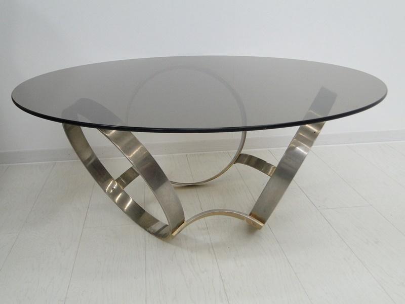5201-Glastisch-Tisch-Designer Tisch-Beistelltisch-Bauhaus 3
