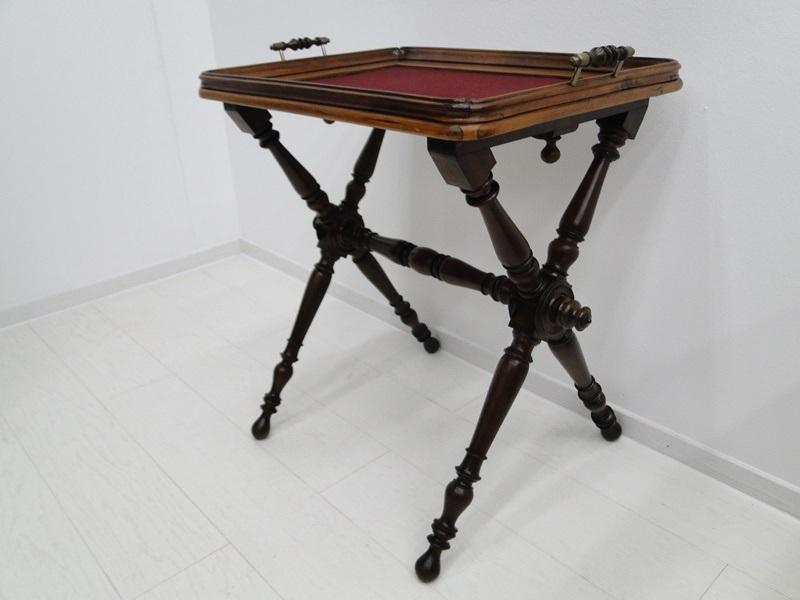 5223D-Serviertablett-Tablett-Beistelltisch-Serviertisch-Tisch-Historismus-altdeu 1