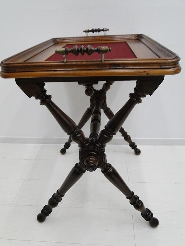 5223D-Serviertablett-Tablett-Beistelltisch-Serviertisch-Tisch-Historismus-altdeu 4