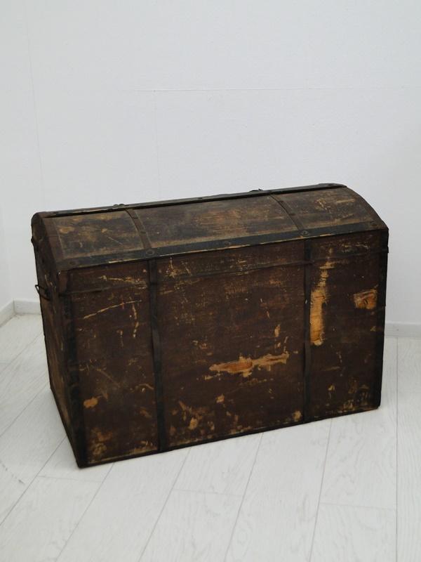 2469D-Truhe-Schatzkiste-alte Holztruhe unrestauriert-Schatztruhe-Kiste-Dekorstüc 4