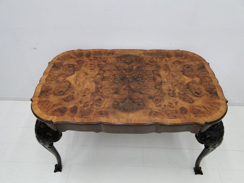 5000-Barockstiltisch-Esstisch-Tisch-Wohnzimmertisch-Salontisch-Wurzelholzfurnier 1