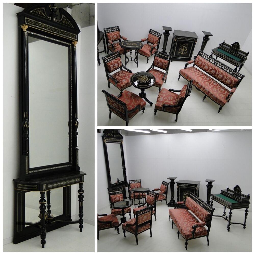 4944-Makartzimmer-Schreibtisch-Makartmöbel-Sitzgruppe-MAKART-Konsole-Spiegel- 0