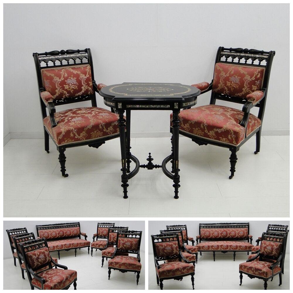4944-Makartzimmer-Schreibtisch-Makartmöbel-Sitzgruppe-MAKART-Konsole-Spiegel- 1