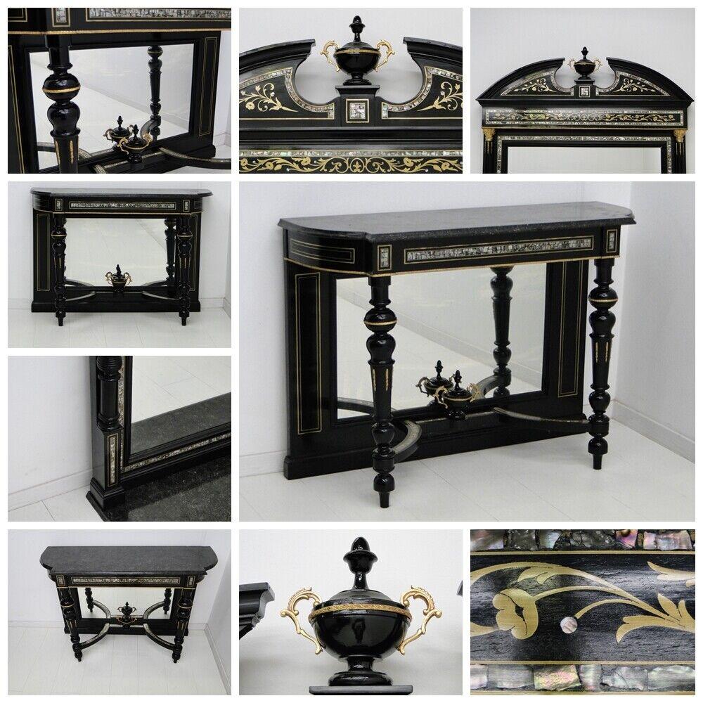 4944-Makartzimmer-Schreibtisch-Makartmöbel-Sitzgruppe-MAKART-Konsole-Spiegel- 8