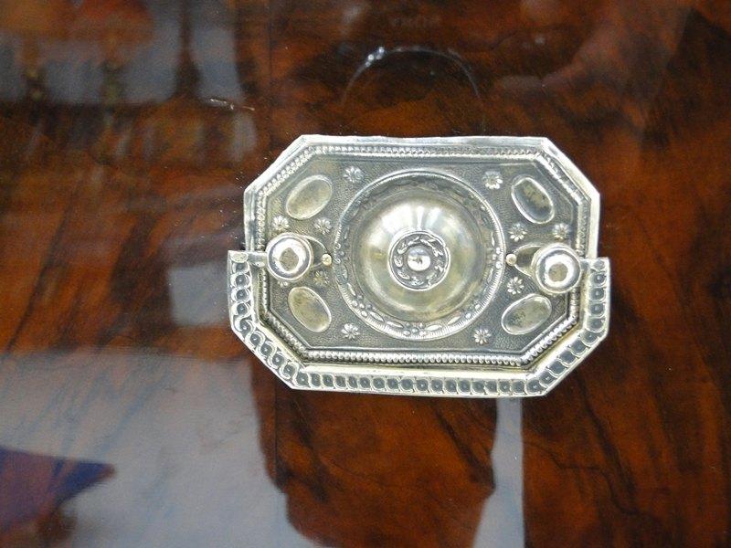 3484D-Kommode im Imperialstil-Ladenkommode-Schreibkommode-Kommode-Imperial-4Lade 4