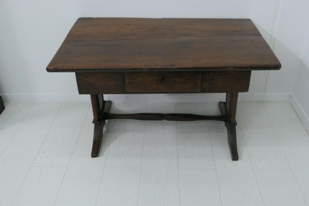 6124-Schreibtisch-rustikal-Tisch-Schreibmöbel 0