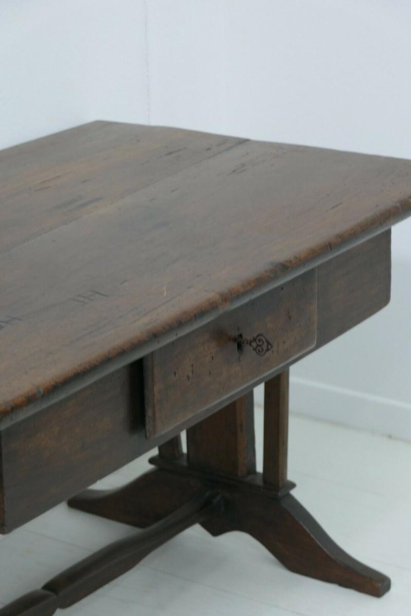 6124-Schreibtisch-rustikal-Tisch-Schreibmöbel 4