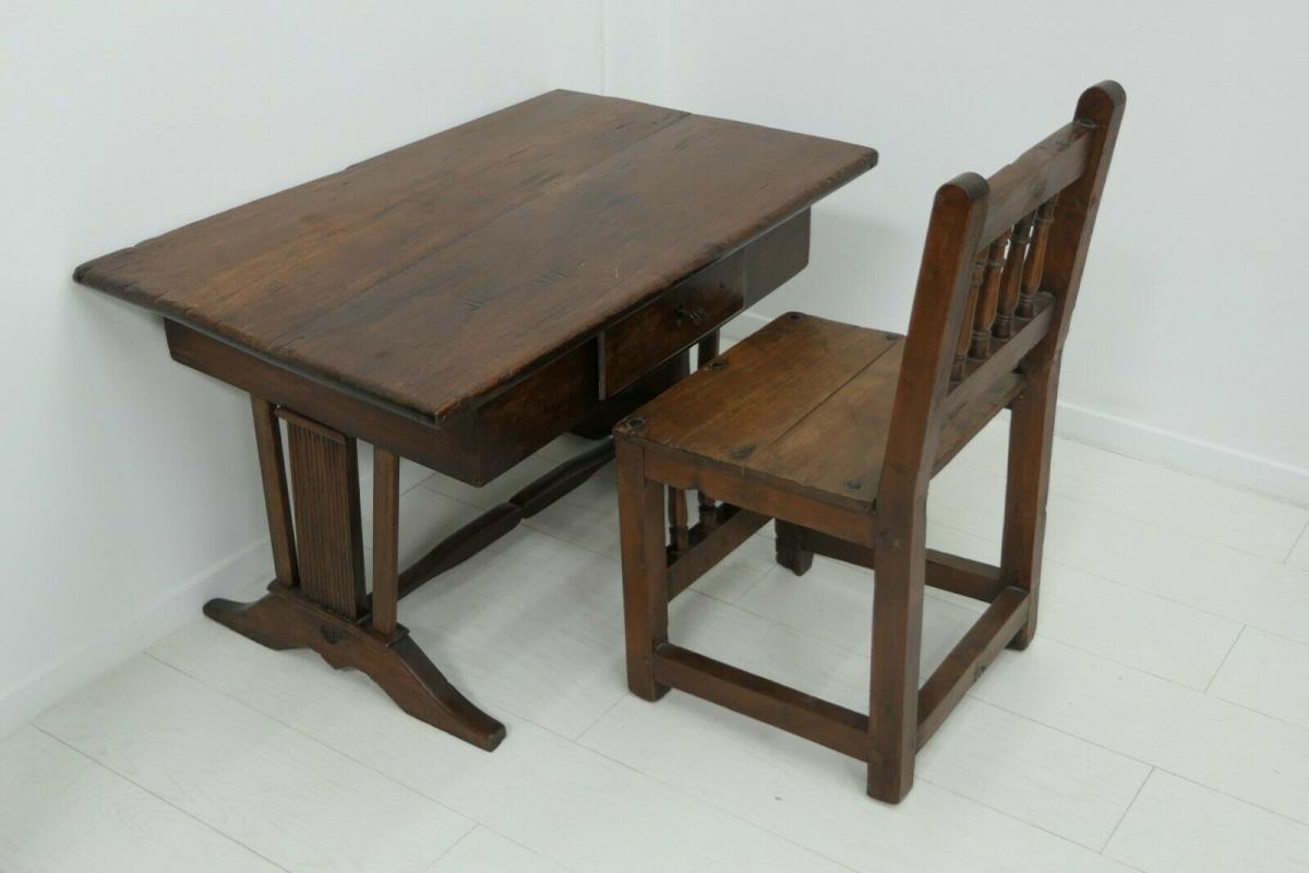6124-Schreibtisch-rustikal-Tisch-Schreibmöbel 8