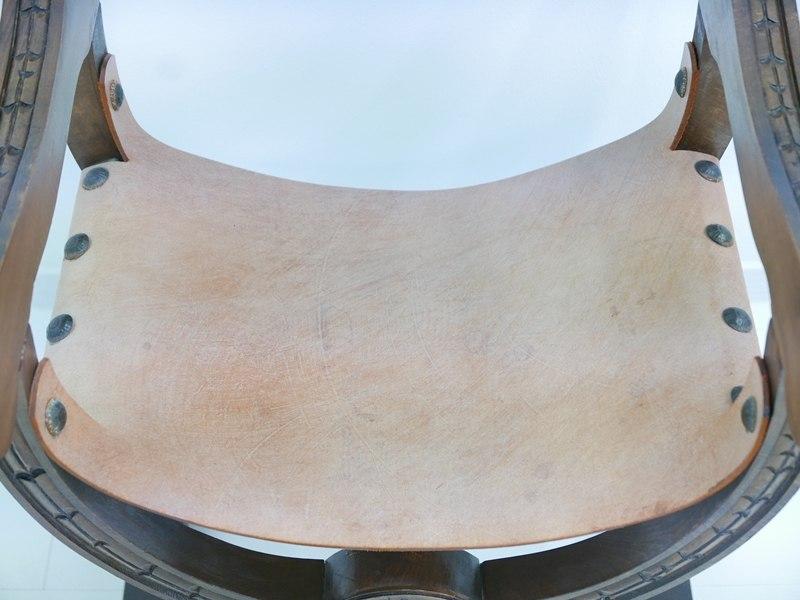 4607D-Ledersessel-Armlehnenstuhl-Rittersessel-Sessel-Stuhl-Armlehnensessel-Leder 4