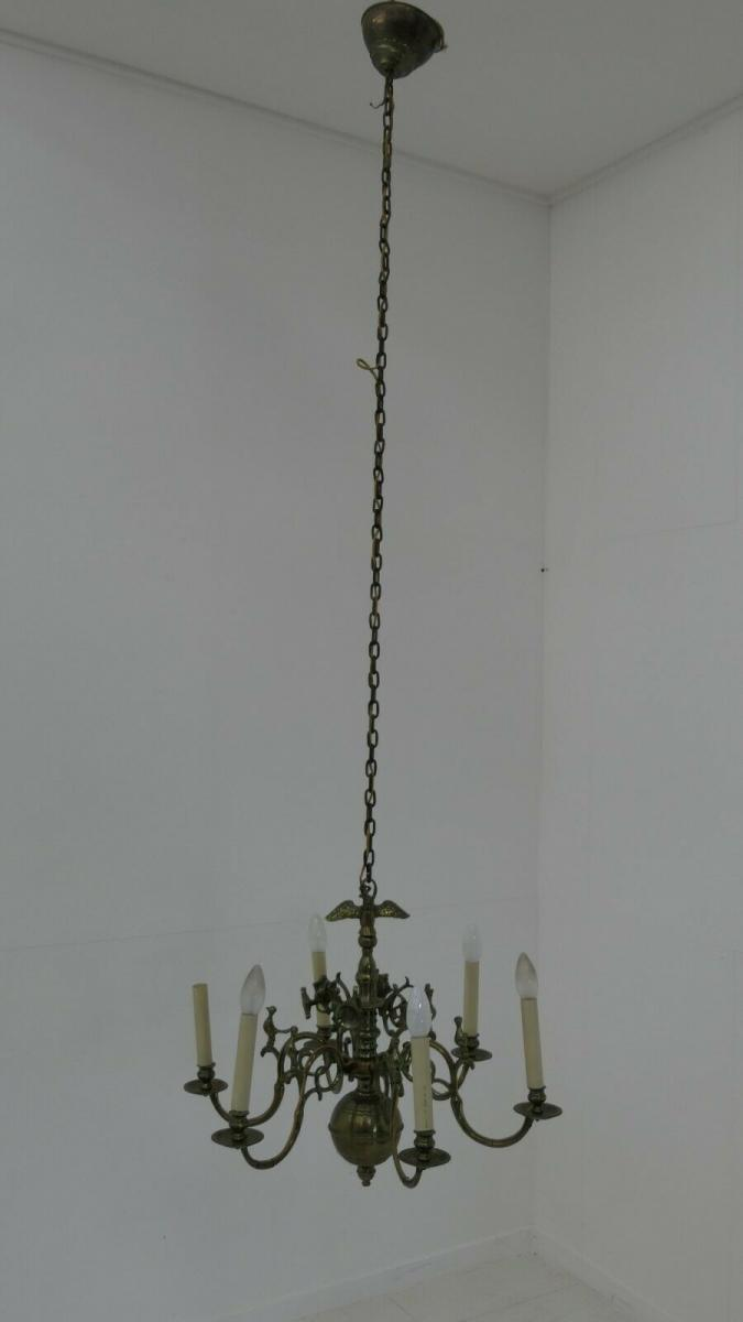 6134-Messingluster-Polenluster-Leuchte-Luster-Lampe-Polenlüster-Hängelampe 1