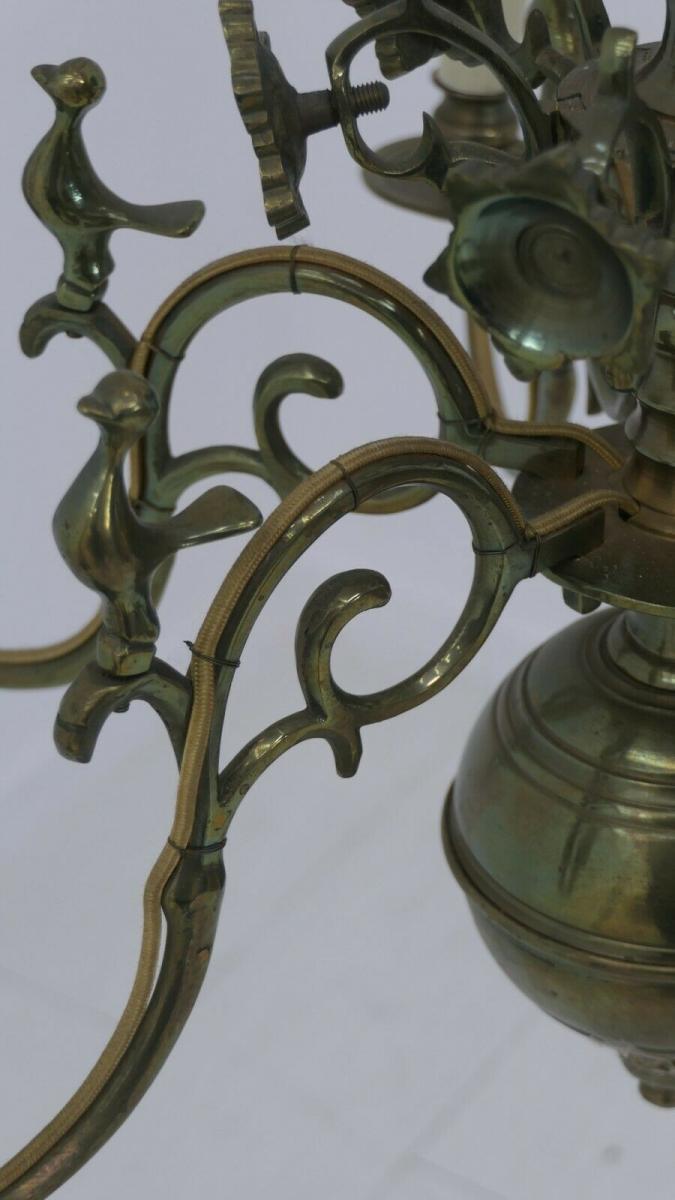 6134-Messingluster-Polenluster-Leuchte-Luster-Lampe-Polenlüster-Hängelampe 5