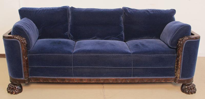 Dreiteilige neorenaissance sitzgruppe sofa zwei sessel for Sessel antik