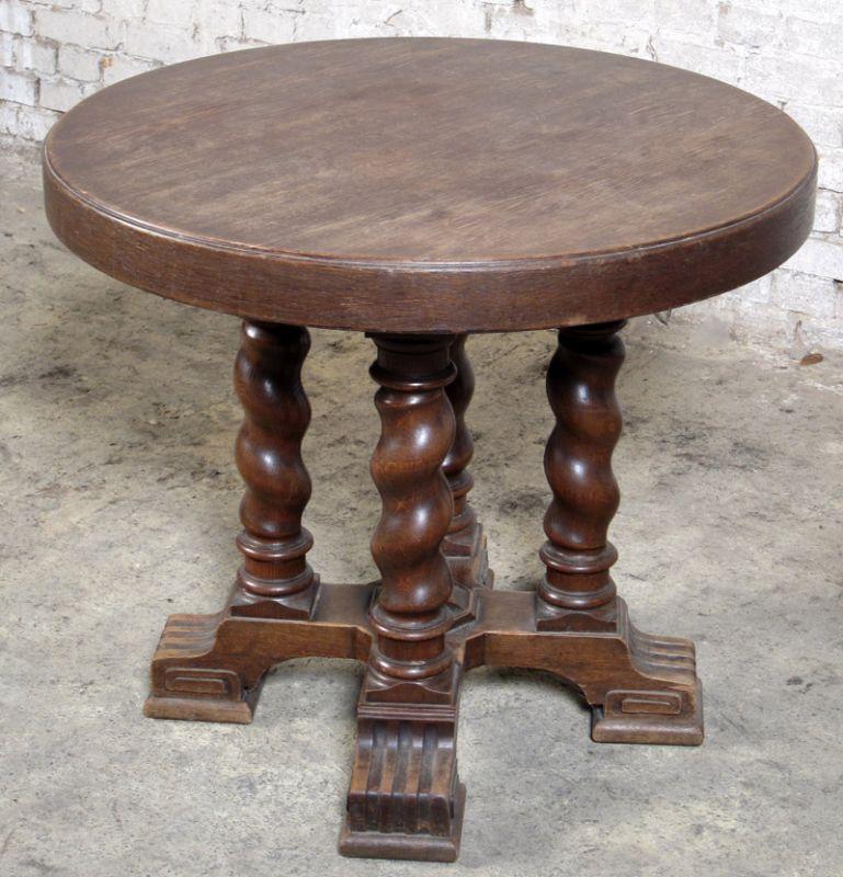 Danziger Barock  Beistell - Tisch gefertigt um 1890 aus Eiche Antik Kolosseum 1