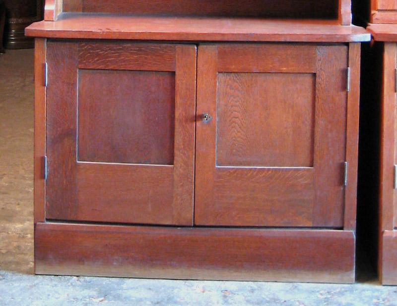 Zwei schöne Jugendstil Bücherschränke gefertigt um 1900 Eiche Antik Kolosseum 6
