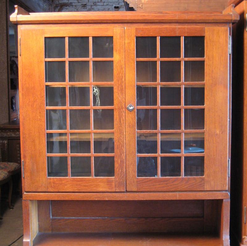 Zwei schöne Jugendstil Bücherschränke gefertigt um 1900 Eiche Antik Kolosseum 7