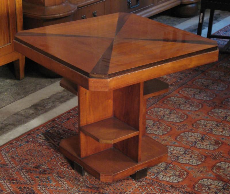 Nussbaum Sitzguppe des Pariser Art Deko Vier Armlehner und Tisch Antik Kolosseum 6