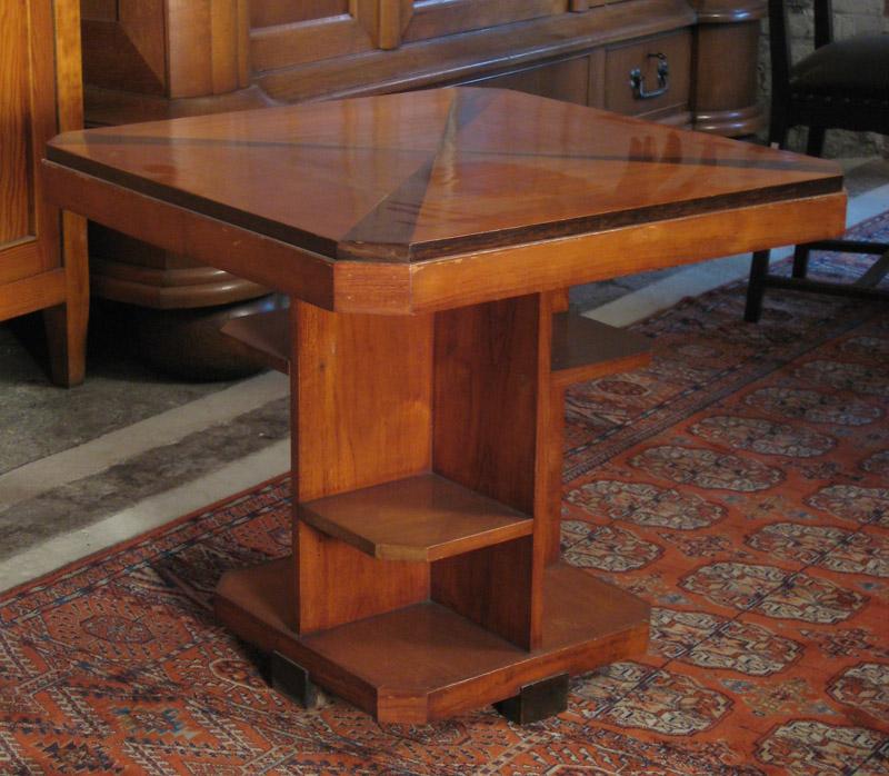 Nussbaum Sitzguppe des Pariser Art Deko Vier Armlehner und Tisch Antik Kolosseum 7