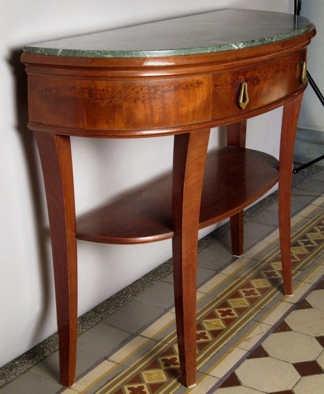 Art Deco Beistelltisch / Konsoltisch mit Schublade / MarmorplatteAntik Kolosseum 3