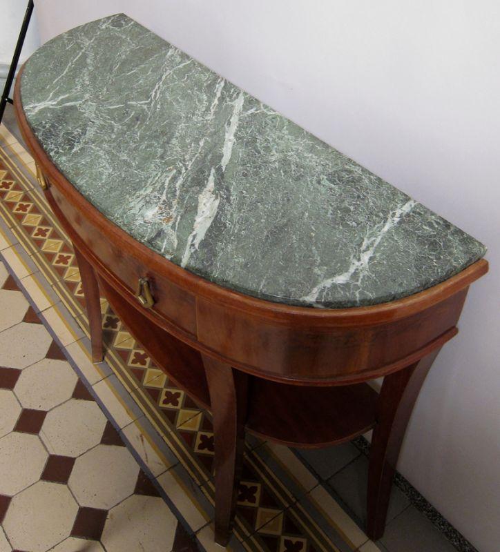 Art Deco Beistelltisch / Konsoltisch mit Schublade / MarmorplatteAntik Kolosseum 4