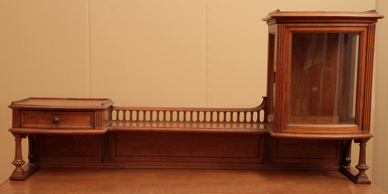 faszinierender asymetrischer nussbaum gr nderzeit schreibtisch antik kolosseum nr 271603028924. Black Bedroom Furniture Sets. Home Design Ideas