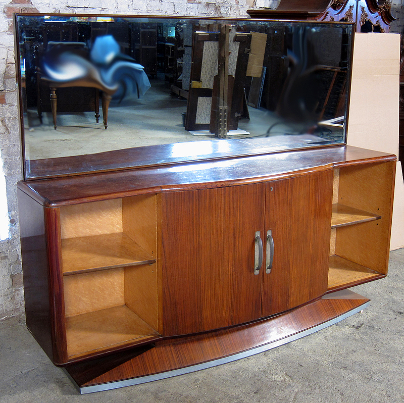 Original nussbaum ahorn art deco sideboard mit for Sideboard zirbenholz
