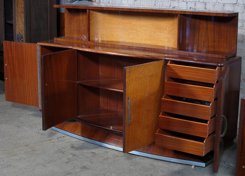 Original nussbaum ahorn art deco sideboard mit kleinem for Sideboard zirbenholz