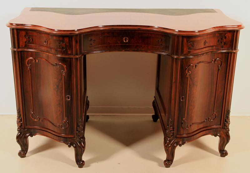 Eleganter Louis Philippe Damenschreibtisch aus Palisander Antik Kolosseum