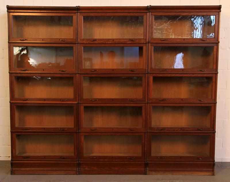 Original 3-teiliger Globe Wernecke Bücherschrank Bibliothekswand Antik Kolosseum 0