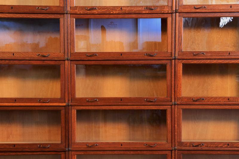 Original 3-teiliger Globe Wernecke Bücherschrank Bibliothekswand Antik Kolosseum 6