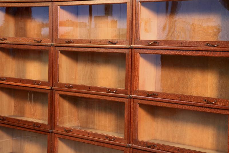Original 3-teiliger Globe Wernecke Bücherschrank Bibliothekswand Antik Kolosseum 7