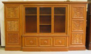 Heller Bücherschrank / Highboard aus der Neorenaissance um 1930 Antik Kolosseum 1
