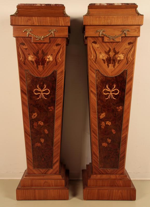 Wunderschönes Säulenpaar im Stile des Empire gefertigt um 1950 Antik Kolosseum 0
