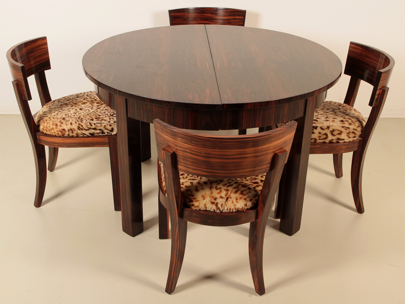 vier sch ne art deco st hle aus makassar gefertigt um 1920 ant. Black Bedroom Furniture Sets. Home Design Ideas