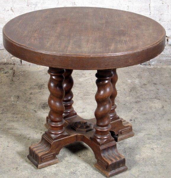 Danziger Barock Beistell - Tisch gefertigt um 1890 aus Eiche Antik Kolosseum
