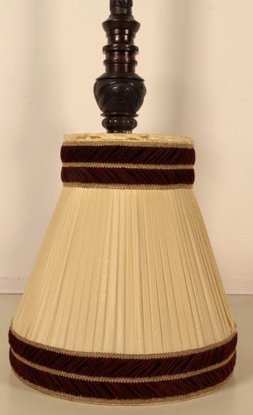 Seltene Gründerzeit Stehlampe mit schönem Schnitzwerk Antik Kolosseum 3