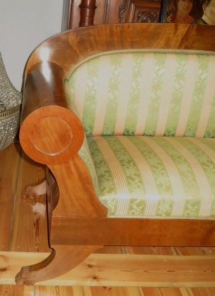 Elegantes original biedermeier walzen sofa aus mahagoni for Schlafsofa antik