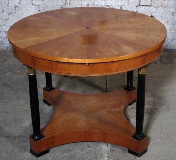 Runder Salontisch 2. Biedermeier gefertigt um 1880 aus Kirsche Antik Kolosseum 0