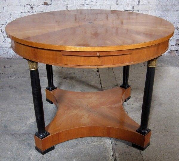 Runder Salontisch 2. Biedermeier gefertigt um 1880 aus Kirsche Antik Kolosseum 2