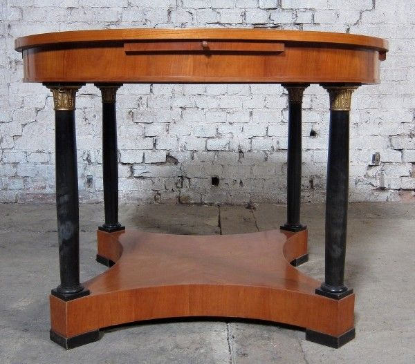 Runder Salontisch 2. Biedermeier gefertigt um 1880 aus Kirsche Antik Kolosseum 4