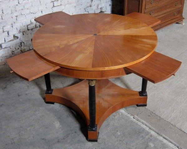 Runder Salontisch 2. Biedermeier gefertigt um 1880 aus Kirsche Antik Kolosseum 5